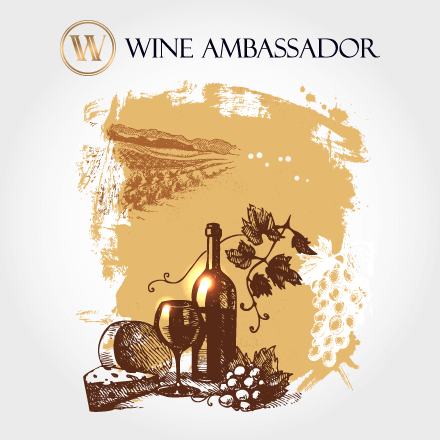vineyard vector with logo